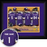 Use the code PINFIVE to receive an additional 5% discount off the price of the  Minnesota Vikings NFL Personalized Locker Room Print at SportsFansPlus.com