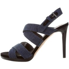 Reed Krakoff Denim Crossover Sandals outlet visa payment sale classic TVdbM7