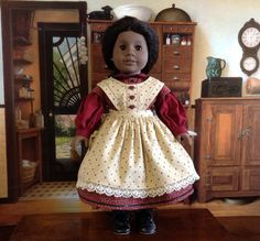 American Girl Civil War Dress by HeidiMaidDollClothes on Etsy