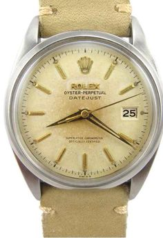 Old School Suede Strapped Rolex