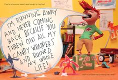 The Beginneres Guide to Running Away From Home, written by Jenniffer Larue Hugnet and illusttraed by New York Times Best Illustrated artist Chris Sickels