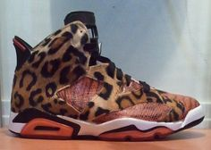 c13e62492daa Newest Youth Big Boys Air Jordan VI Jungle Fever Customs Leopard