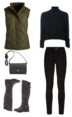 """WInter Moments"" by lucydanvers on Polyvore featuring Weatherproof Garment Company, Le Kasha, Paige Denim, Qupid and Kate Spade"
