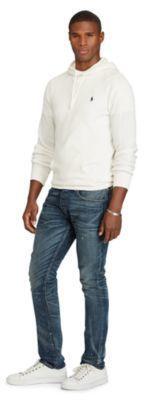 Ralph Lauren Waffle-Knit Cotton Hoodie Nevis Xs