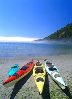 Sea Kayaks on the beach