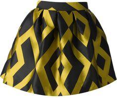 Love this: Geometric Print Skirt @Lyst