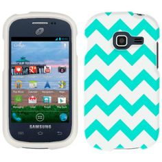 Amazon.com: Samsung Galaxy Centura Chevron Turquoise and White Pattern Phone Case Cover: Cell Phones & Accessories
