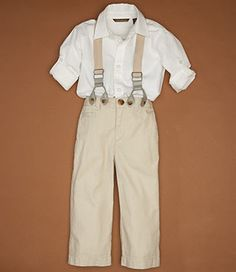 Ring Bearer   Cubavera [with gray pants and a yellow or peach bowtie]