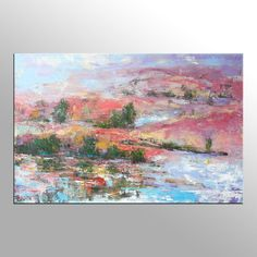 Paisaje pintura pintura al óleo de gran gran arte por Topart007