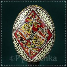 Real Ukrainian Pysanka Goose Pysanky Best by Halyna, Easter Egg Osterei