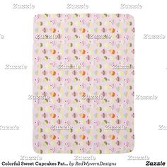 Colorful Sweet Cupcakes Pattern Baby Blanket