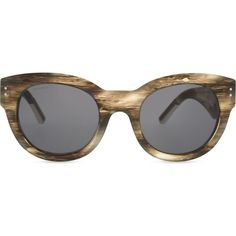 BURBERRY Runway Phantos cateye sunglasses (455 BGN) ❤ liked on Polyvore featuring accessories, eyewear, sunglasses, grey, oversized cateye sunglasses, burberry eyewear, black lens sunglasses, metallic sunglasses and uv protection sunglasses