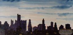 241 - Night Skyline - Tobins Lake Studios