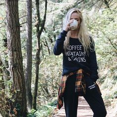 Cabin sweatshirts have been restocked! Worn here by @beegilbz along with our brand new signature sweats  www.wishyouwerenorthwest.com