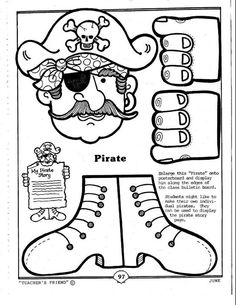 1000 images about coloring sheets on pinterest coloring for Pirate coloring pages for preschool