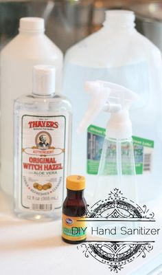 The FDA is now looking into hand sanitizer and its main ingredient triclosan. Studies show that triclosan can harm the immune system and more! Why not try a healthier alternative and make a #DIY hand sanitizer using #Thayers #WitchHazel.   Special thanks to Goodwill Industries of Denver for this recipe!