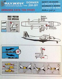Olympic Airways Safety Card Dornier 228-201