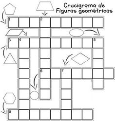 Crucigrama de Figuras Geometricas Math Bingo, Math Games, School Worksheets, Worksheets For Kids, Preschool Learning Activities, Classroom Activities, Material Didático, Bilingual Classroom, Primary Maths