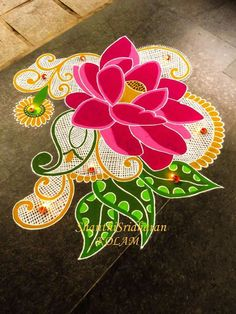 Simple Rangoli Designs Images, Rangoli Designs Flower, Small Rangoli Design, Rangoli Patterns, Rangoli Ideas, Rangoli Designs Diwali, Diwali Rangoli, Flower Rangoli, Beautiful Rangoli Designs