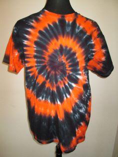 Xlarge Tshirt Orange and Black Tie Dye by AlbanyTieDye on Etsy, $20.00
