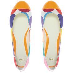 81f95e189e Asos Ladybug Toe Cap Neon Ballet Flats