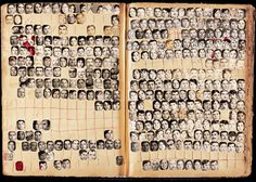 Studio Soussi portrait index, (Sidon, Lebanon), 100 pages, approximately 150 portraits on each page. Collection of the Arab Image Foundation.