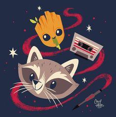 Baby Groot & Rocket - Caley Hicks