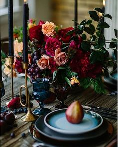 Dark wintry tones with rich elements of marsala, brass and copper  #tableinspiration #wintertones #tabledecor #styling #events #copper #brass #tablestyling #eventstyling #styling #mgevents