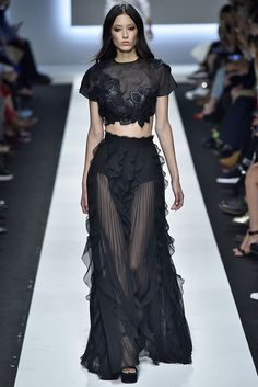 Crop tops aren't going anywhere, as evidenced on the Ermanno Scervino runway.