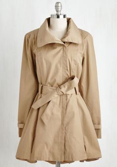 Menswear Inspired Long Long Sleeve Class a Wrap! Coat in Camel