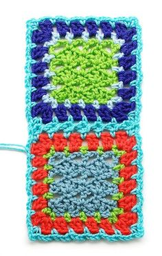 Flat braid join ( uses sc,ch3, sk 2, sc) (different from tight braid which uses sc, ch2, sk2, sc)