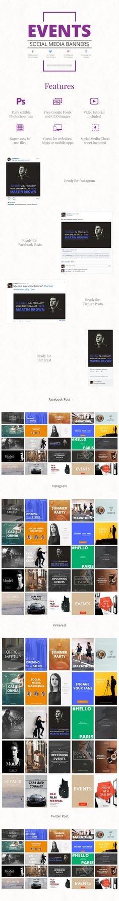 Events Social Media Banners #events #blog #banner #banners #bloggraphics #socialmediatemplate #blogtemplate #socialmedia #websitegraphic #socialmediagraphic #facebook #twitter #instagram #pinterest #blogbanner #websitebanner #blogdesign