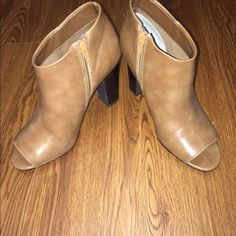 Spotted while shopping on Poshmark: Brown peep toe ankle booties! #poshmark #fashion #shopping #style #Shoes
