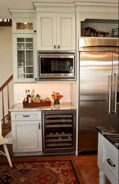 69 Top Built In Microwave Cabinet Inspirations For Beautiful Kitchen - Microwaves - Ideas of Microwaves - 69 Top Built In Microwave Cabinet Inspirations For Beautiful Kitchen Built In Microwave Cabinet, Microwave In Kitchen, Kitchen Redo, New Kitchen, Kitchen Remodel, Kitchen Design, Kitchen Cabinets, Kitchen Ideas, Microwave Shelf