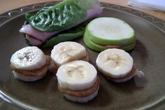 How come I never thought of the fruit peanut butter sandwiches?...