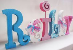 Child's Room Decor Name Letters Custom Wood by thepatternbag, $66.00