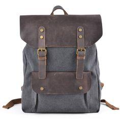 """Gootium 30205GRY Canvas Backpack Sac š€ dos loisir pour ordinateur portable 15"""" en lin & cuir Homme/Femme šC Gris: Amazon.fr: Bagages"""