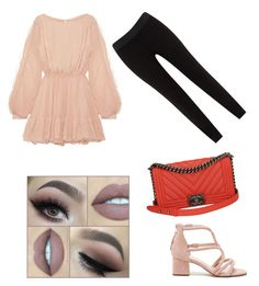 """""""Untitled #25"""" by myclothsoffashon on Polyvore featuring LoveShackFancy, JunaRose, Sole Society and Chanel"""