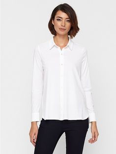 Classic Collar Shirt in Organic Cotton Easy Jersey