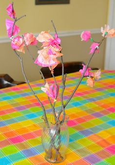 Bring in a little spring. Simple winter fun for kids.