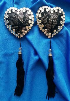 Lace & Glamour Burlesque Pasties Nipple Covers w/ by AlexisGstring