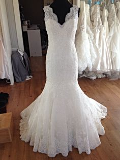 Mori Lee 2605 | Lace bridal gown with v-neck and v-back  | Brides & Beyond - St. Henry, OH