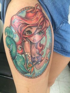 tatuaje sirena ariel