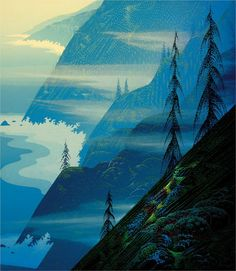 Forest Arabesque - Eyvind Earle - WikiPaintings.org