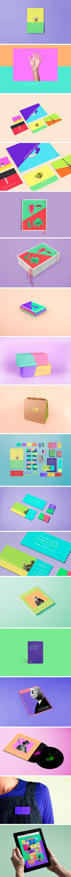 LEFT by Arthur Foliard Awesome color #identity #packaging #branding PD