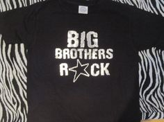 Big Brothers Rock METALLIC print Super cool Big by Ilove2sparkle