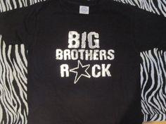 Big Brothers Rock METALLIC print Super cool Big by Ilove2sparkle