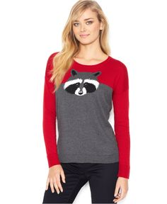 kensie Long-Sleeve Scoop-Neck Colorblocked Sweater (Only at Macy's) - Sweaters - Women - Macy's