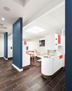 Flooring Wall color Little Britches Pediatric Dentistry - Dental Office Design by JoeArchitect in Longmont, Colorado #dental