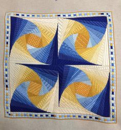 Twister by Patricia A. Spencer - This embroidery project is very very similar to a wall hanging I made from a pattern written in German.